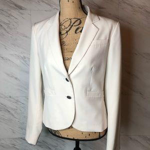 Calvin Klein Blazer Skirt Suit Cream Size 8